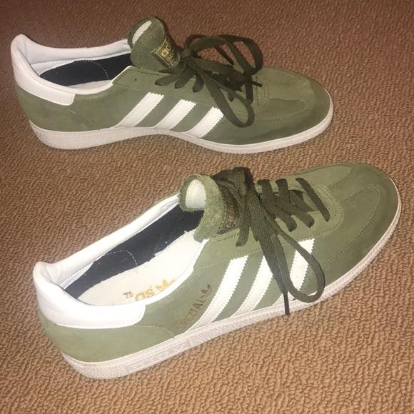 adidas Shoes   Olive Green Mens Adidas